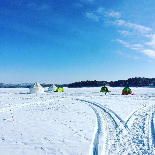 朱鞠内湖ワカサギ釣り