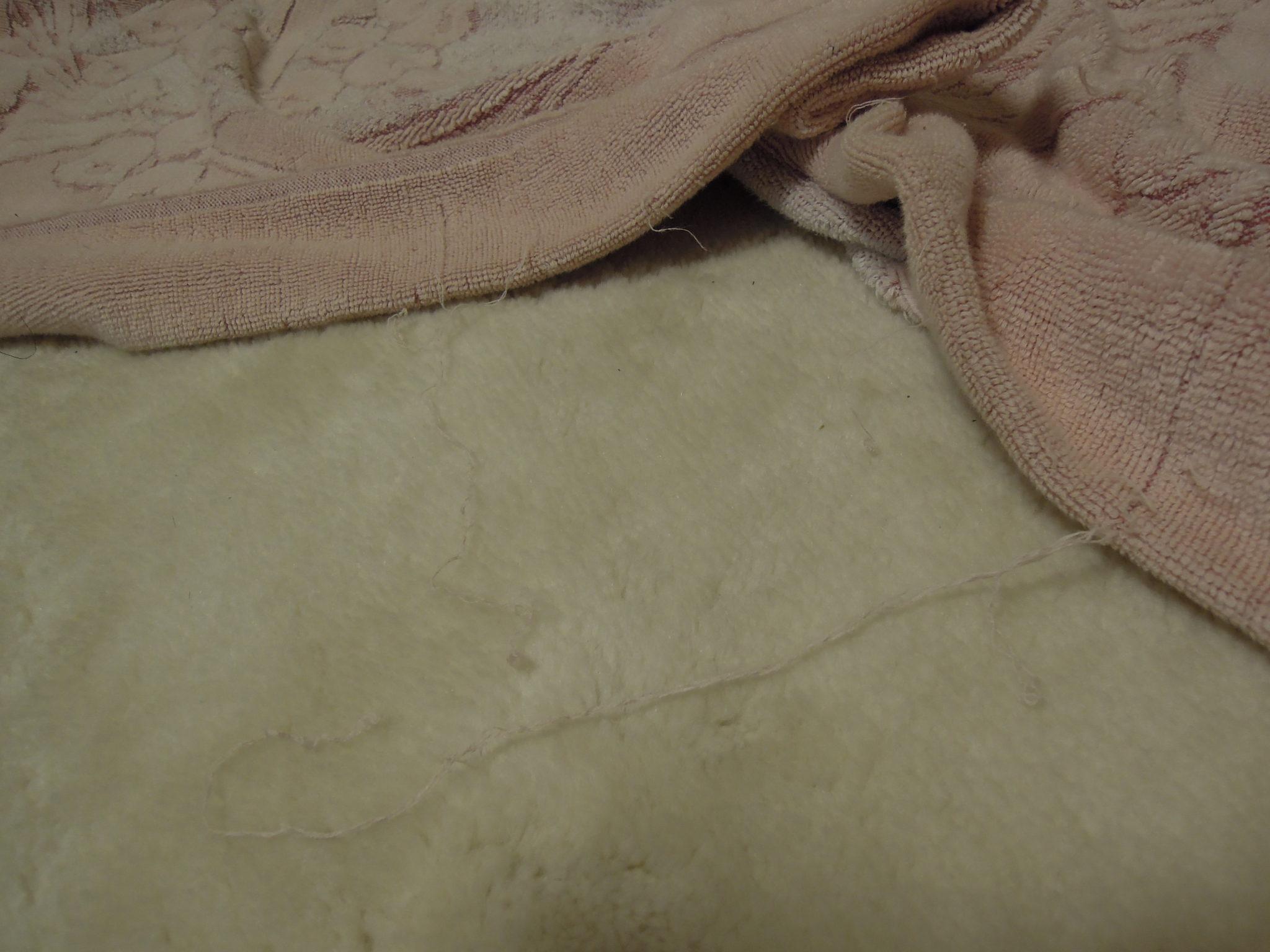 ボロボロのタオルケット