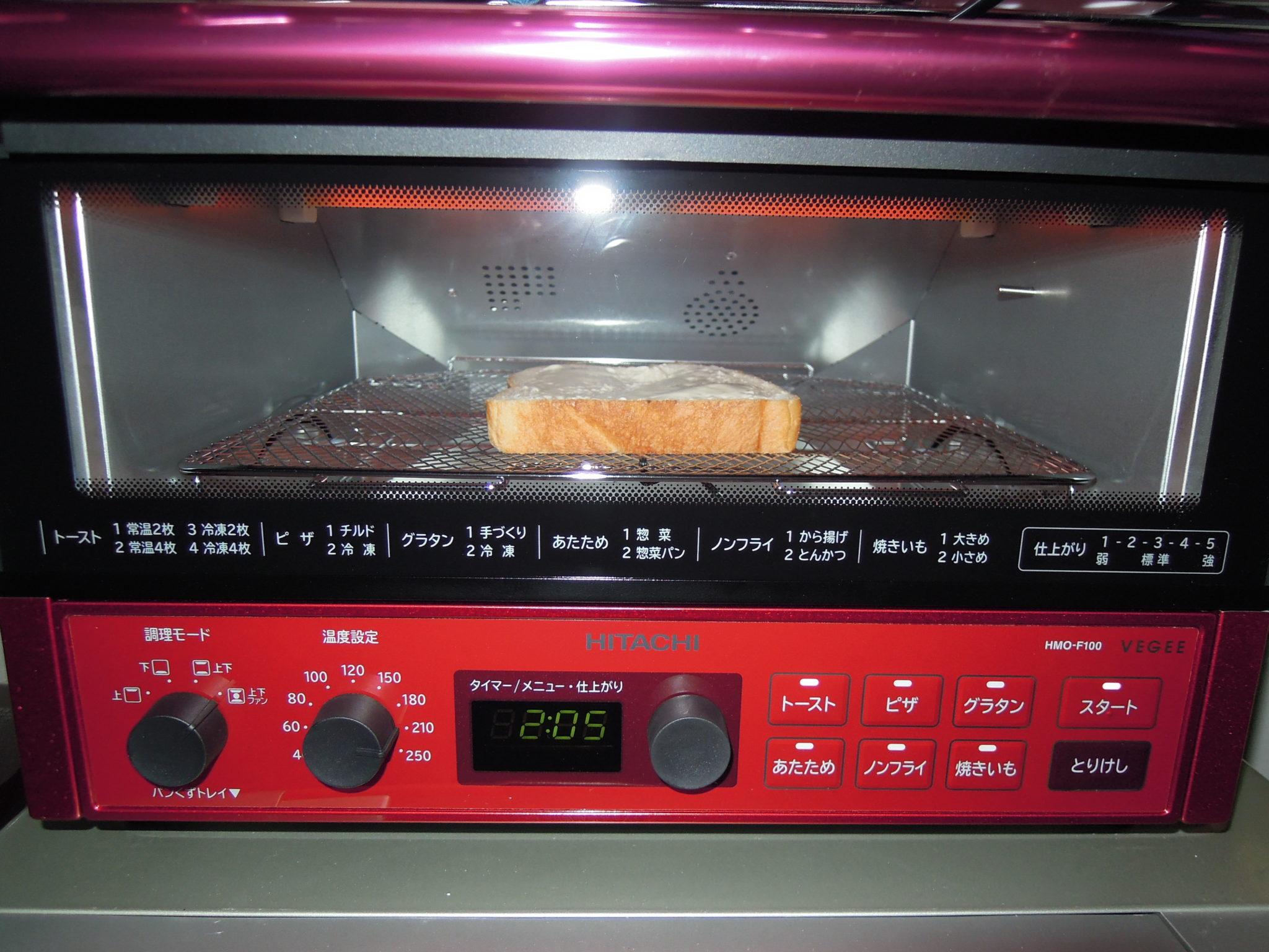 新しいオーブントースターで焼く